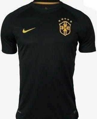 5c9f93812 Camisa Preta Seleção Brasileira Oficial de Jogo - SPSULVENDAS